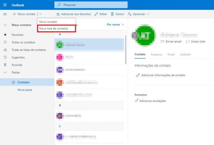 Outlook para web / como criar grupo de e-mail no outlook