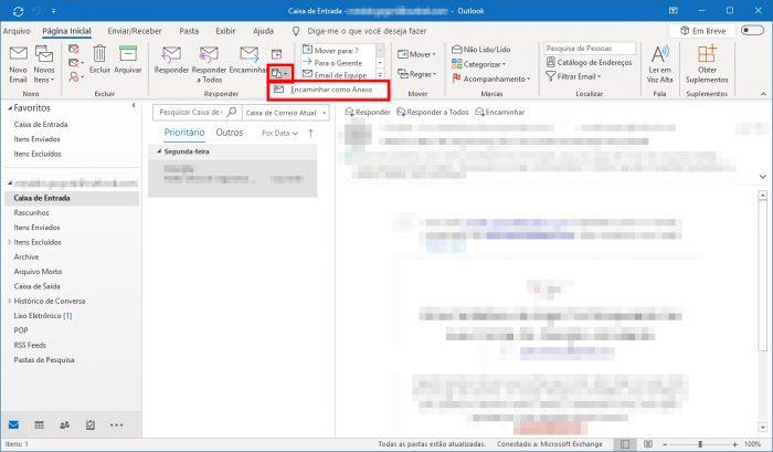Outlook / como anexar um e-mail em outro e-mail no outlook