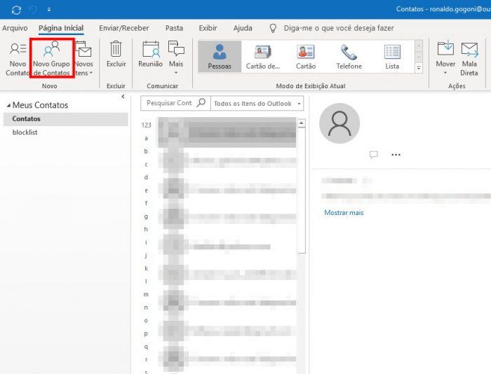 Outlook / como criar grupo de e-mail no outlook