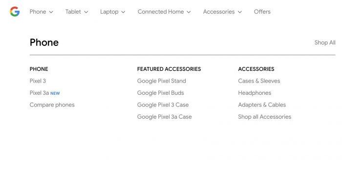 Google Store exibiu link para o Pixel 3a e sua capa protetora