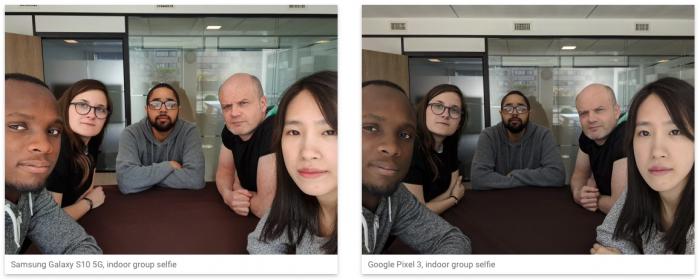 Galaxy S10 5G e Google Pixel 3 - Câmera frontal