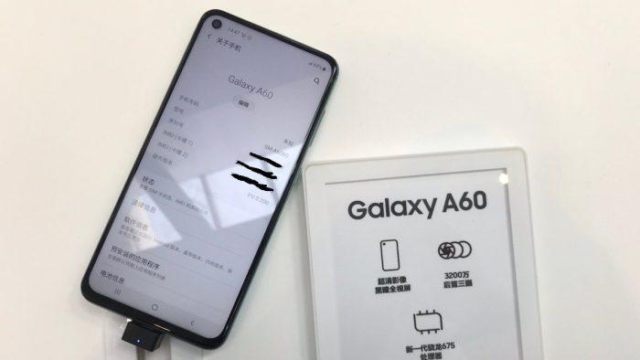 Samsung Galaxy A60 tem furo na tela para câmera frontal de 32 megapixels 3