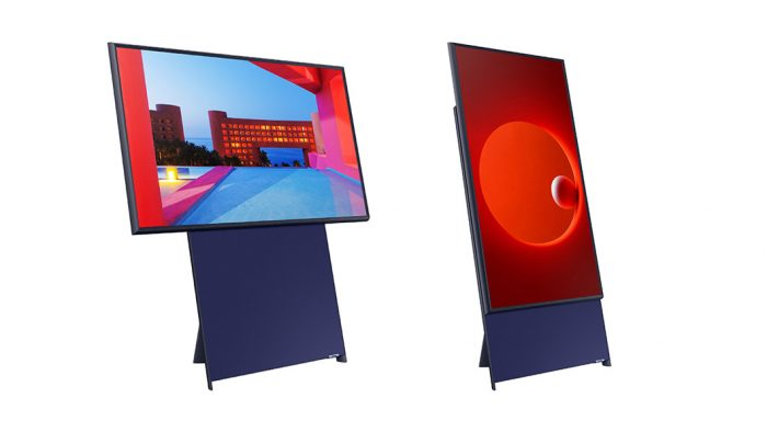 Samsung lança The Sero, TV que pode ser usada na vertical