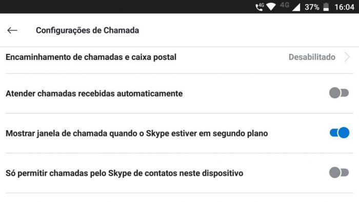 Skype: Atender chamadas recebidas automaticamente