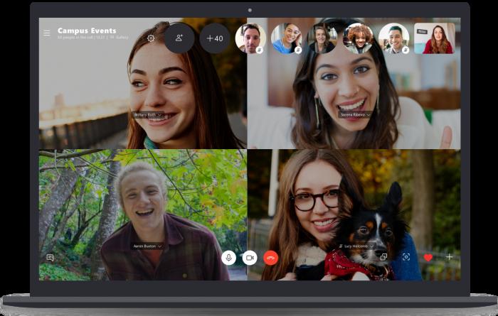 skype permite chamada de vídeo em até 50 pessoas