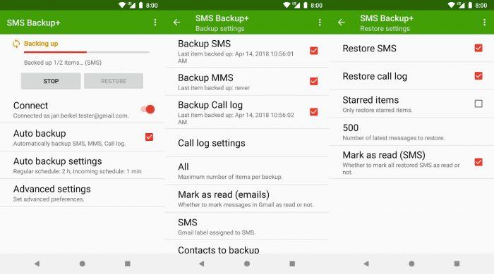 SMS Backup+ / sms para celular