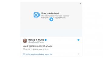 Twitter remove vídeo de Trump com Bolsonaro por violar direitos autorais