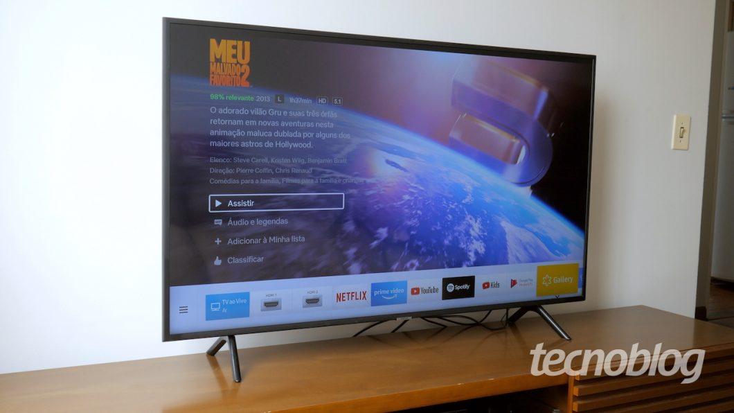 TV 4K Samsung NU7100 - Review