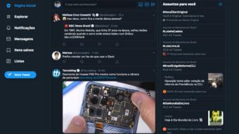 Twitter testa novo visual na web com umas fontes meio grandes