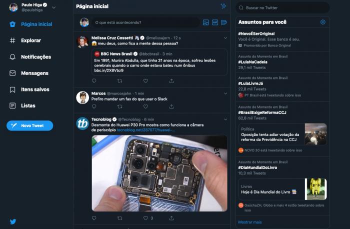 Twitter / Novo layout