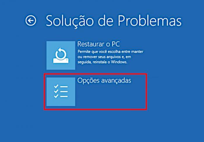 Solução de problemas / A unidade onde o Windows está instalado está bloqueada