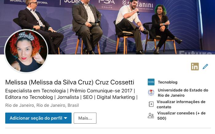 LinkedIn Melissa Cruz Cossetti