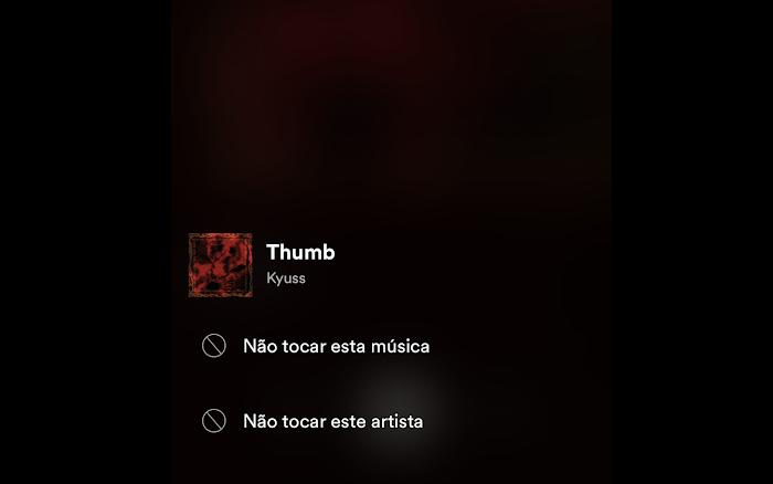 Não tocar esse artista - Spotify
