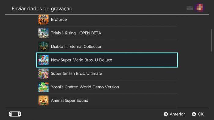 Nintendo Switch transferir saves