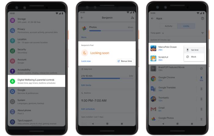 Android Q - Controle parental