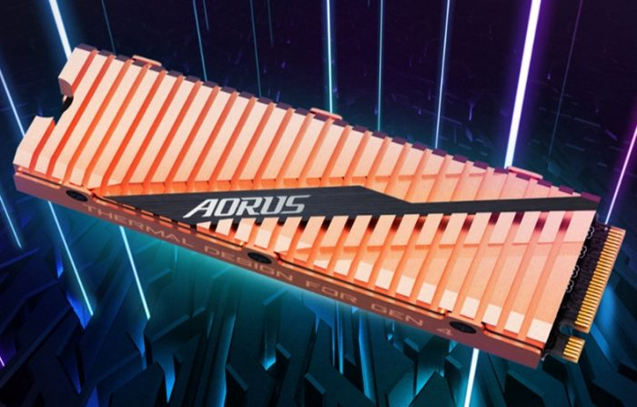 Aorus NVMe Gen4  - aorus ssd pcie 4 700x447 - PCI Express 5.0 está pronto e chega com velocidade de até 128 GB/s