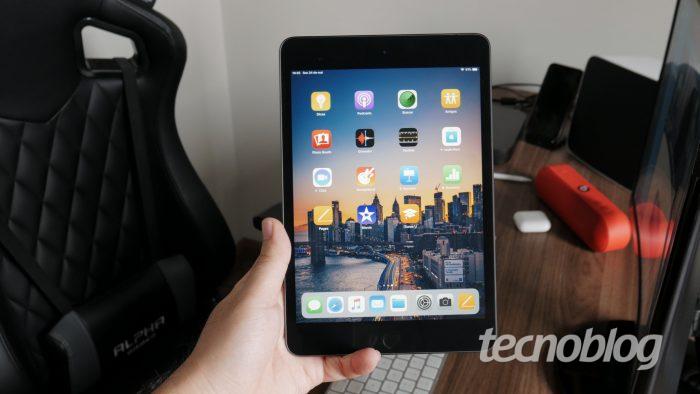 Apple iPad Mini (2019) (Imagem: Tecnoblog)