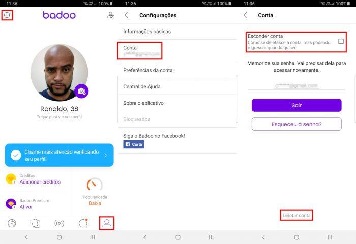Adnroid / Badoo / como sair do Badoo