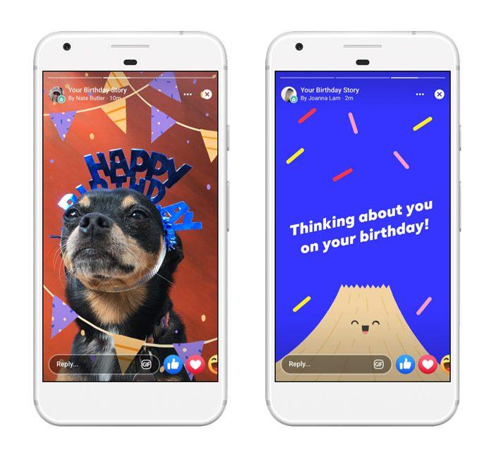Facebook Stories permite enviar cartões de aniversário para amigos