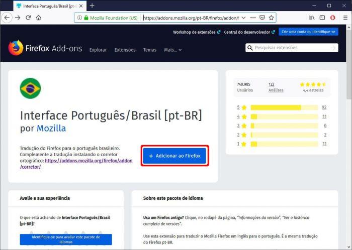 Firefox / como mudar o idioma do firefox