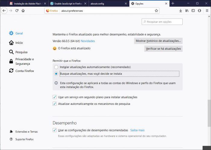 Firefox / como ativar o java no firefox