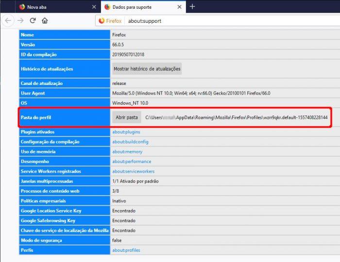 Firefox / como restaurar o firefox