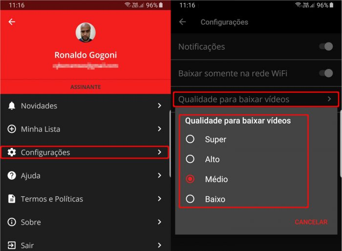 Globoplay / como baixar vídeos do Globoplay