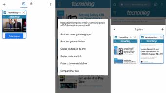 Google Chrome libera grupos de abas para usuários de Android