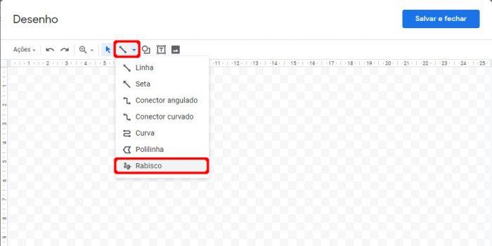 Ferramenta de desenho do Google Docs / como assinar digitalmente um documento