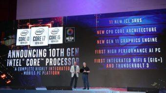 Assim serão os processadores Intel Core de 10ª geração (Ice Lake)