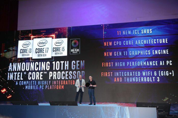 Anúncio dos chips Core de 10ª geração (Foto: Intel)