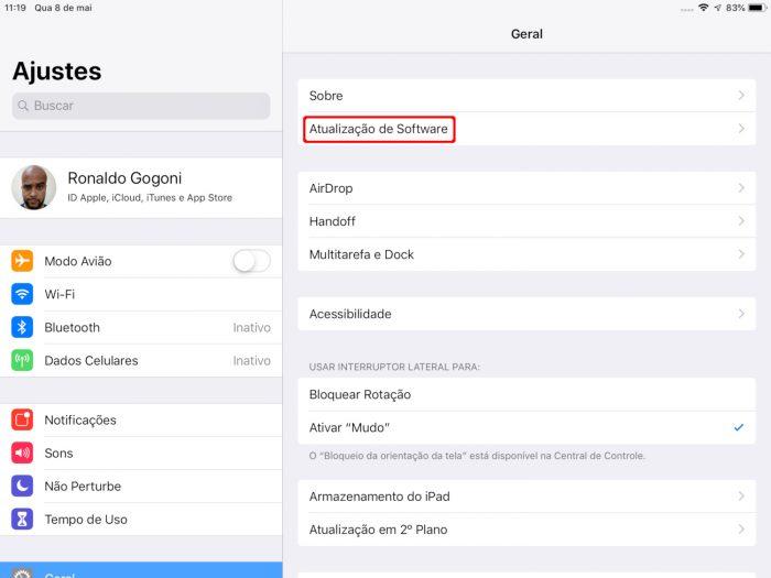 iPad / como atualizar ipad antigo