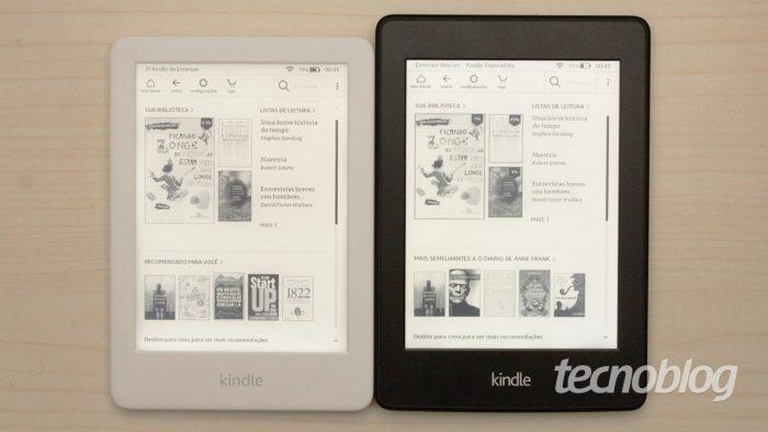 Kindle Paperwhite de segunda geração à direita