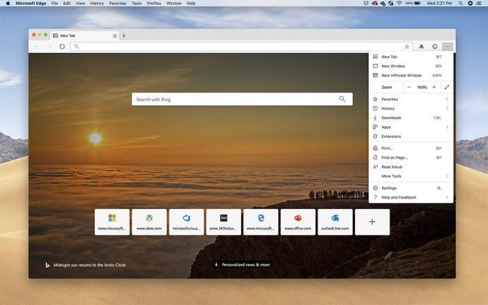 Microsoft Edge chega em testes ao Mac com suporte à Touch Bar