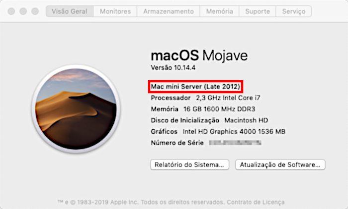 Janela Sobre este Mac / Turbo Boost