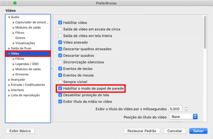 macOS / VLC /como colocar vídeo como papel de parede mac