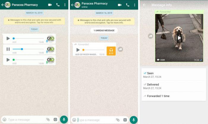 WhatsApp libera áudios em sequência e testa contador de encaminhamentos