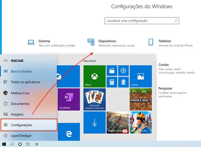 Windows 10 CONFIGURAÇÕES