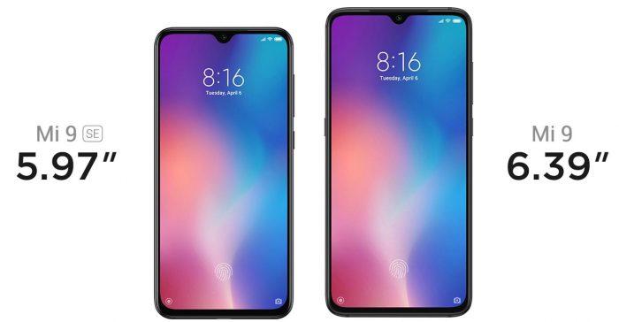 Xiaomi Mi 9 SE vs. Mi 9