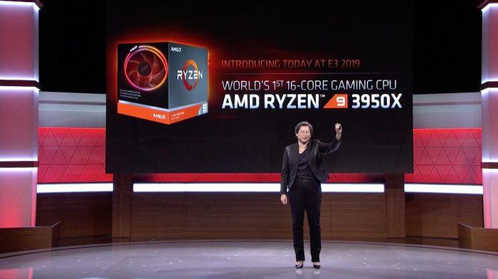 Lisa Su, CEO da AMD, anunciando o Ryzen 9 3950X