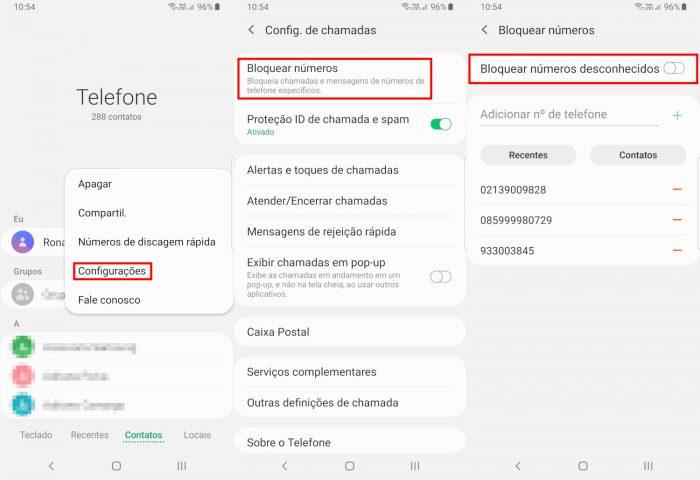 Android / bloquear números / como bloquear número privado