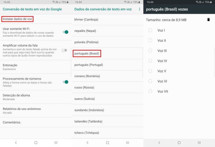 Android / Configurações de voz / como mudar a voz do google maps