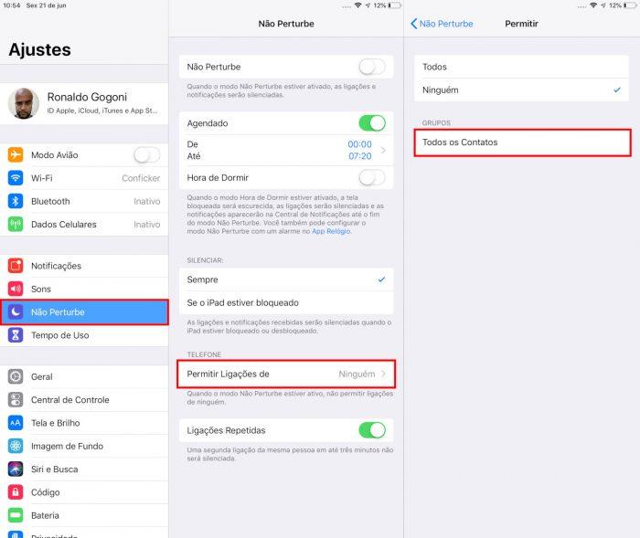 Apple / Não Perturbe / como bloquear número privado
