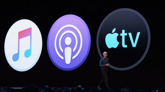 WWDC 2019 / Craig Federighi / Apple Music, Podcasts e TV / fim do itunes