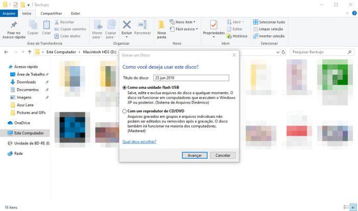 Windows 10 / gravação de CD/DVD / como gravar dvd