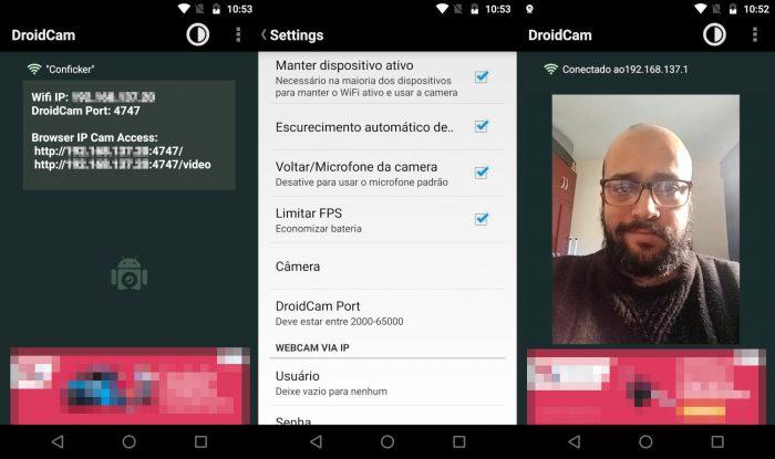 Android / Droidcam / como usar o celular como webcam