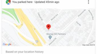 Google Assistente lembra onde você estacionou o carro