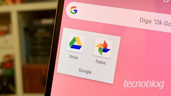 Google Drive and Photos on Android (Image: Tecnoblog)