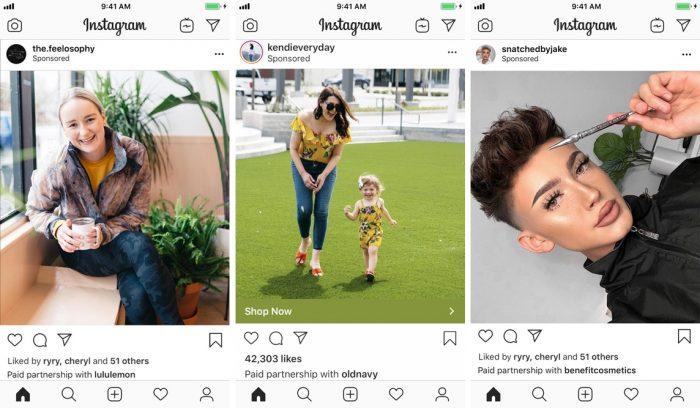 Instagram - branded content