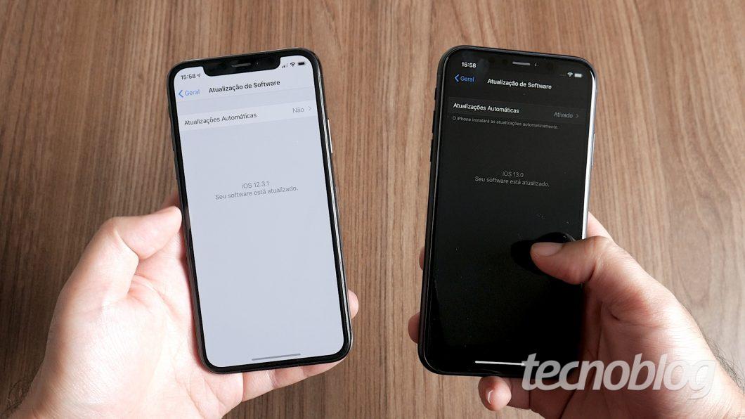 iOS 12 e iOS 13